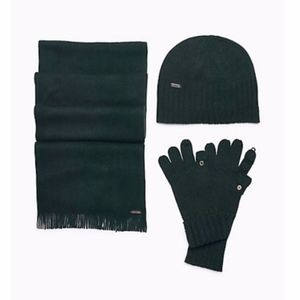 ✨SALE✨CALVIN KLEIN Solid Knit Hat, Gloves, Scarf